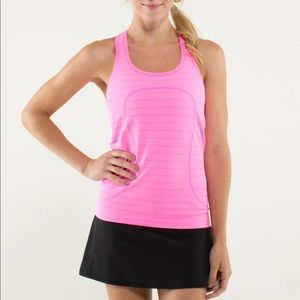 lululemon athletica Tops - Lululemon Run Swiftly Racerback Striped Tank